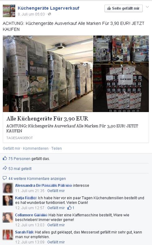 Tv Und Notebook Lagerverkauf Facebook Abzocke Im Grossen Stil